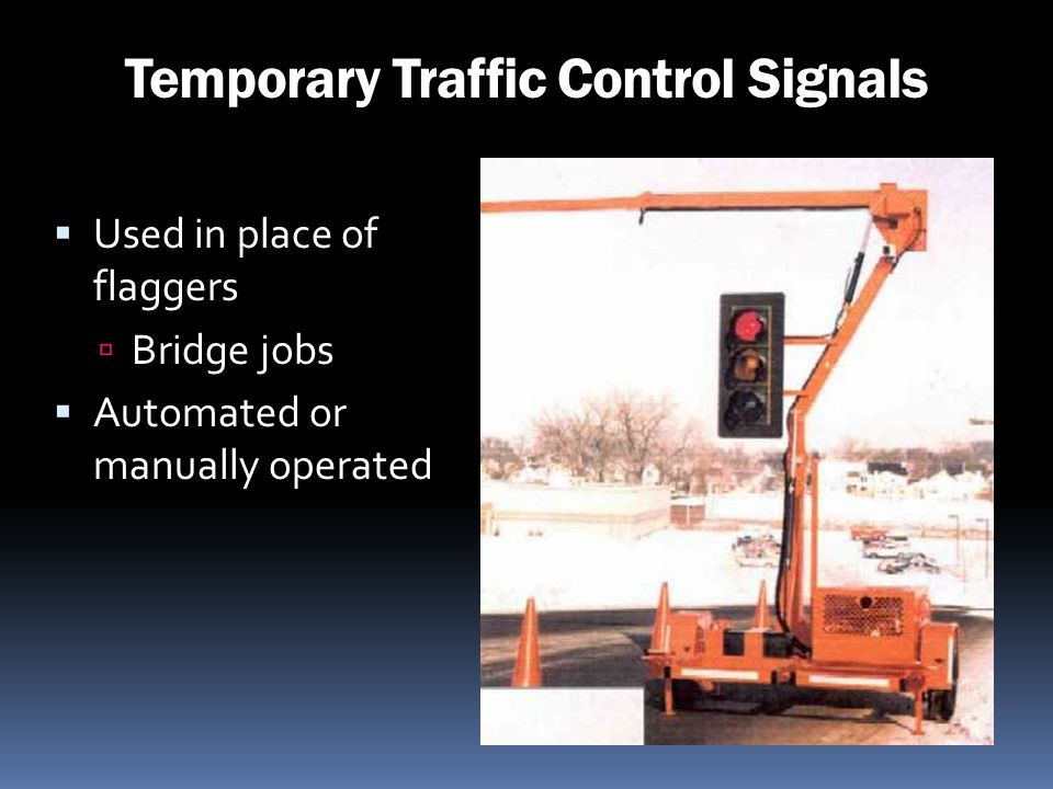 Temporary Traffic Control Signals