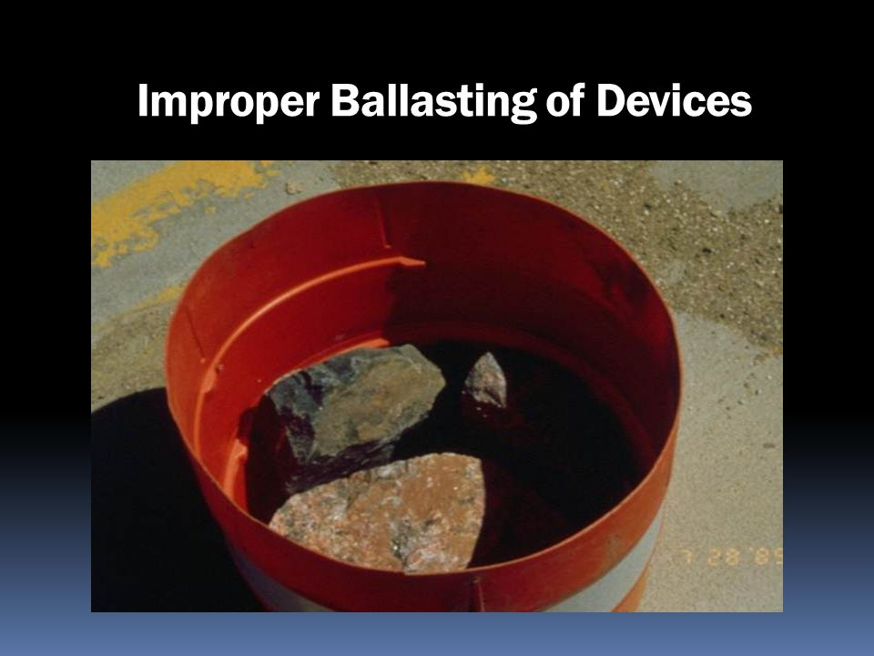 Improper Ballasting of Devices