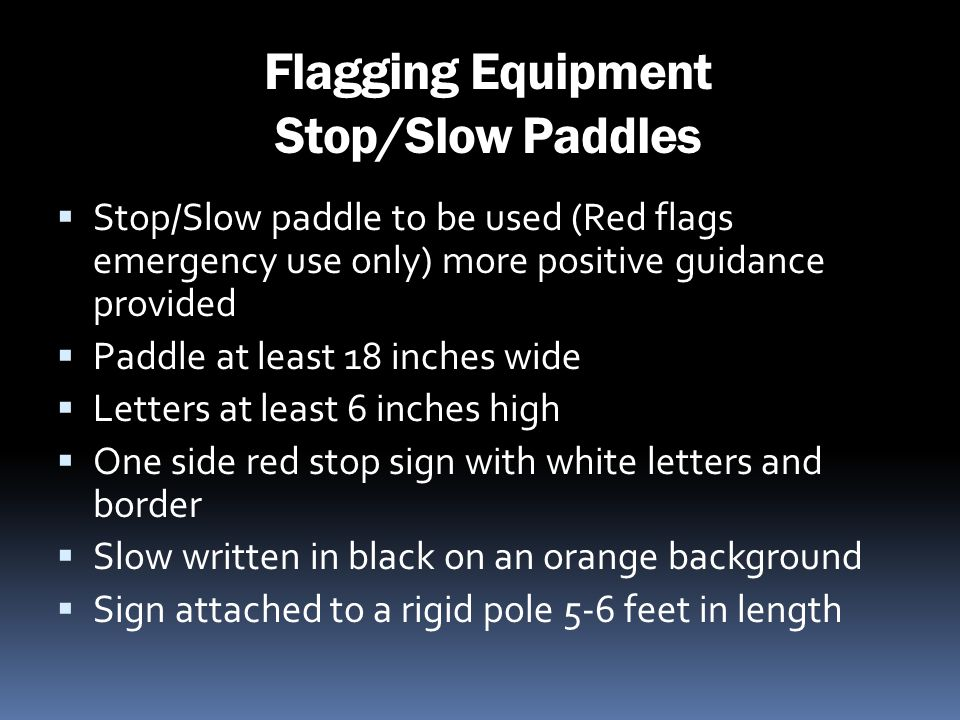 Flagging Equipment Stop/Slow Paddles