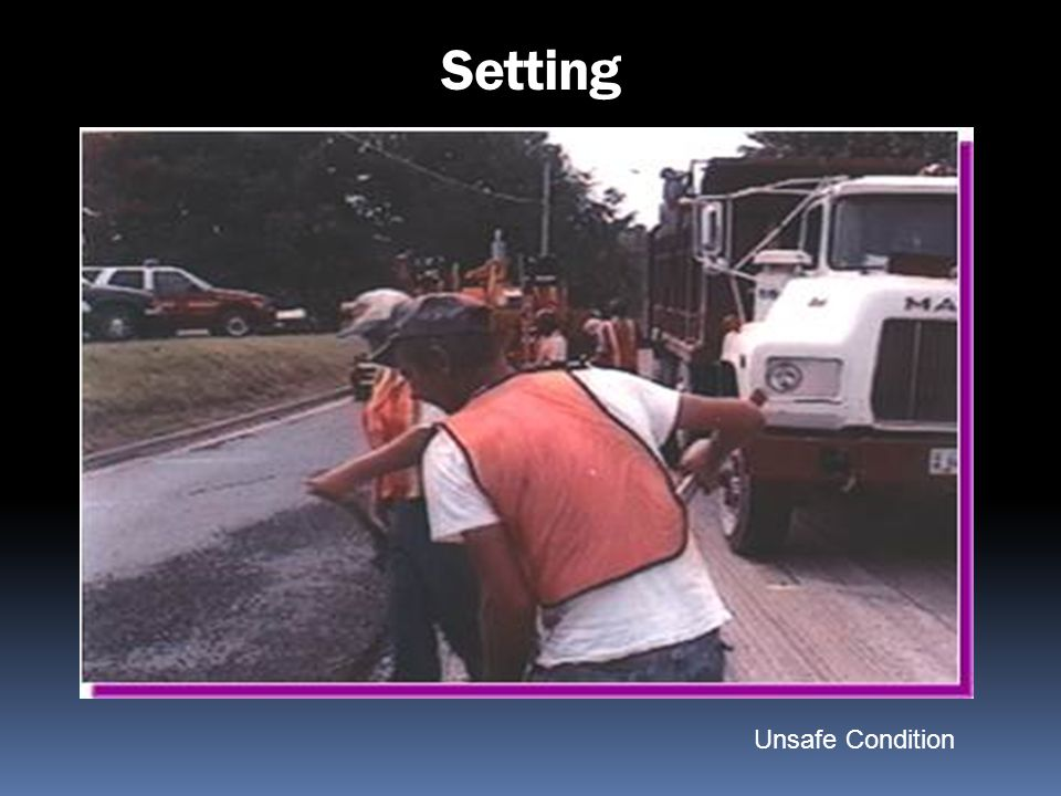 Setting Unsafe Condition Paving Operation