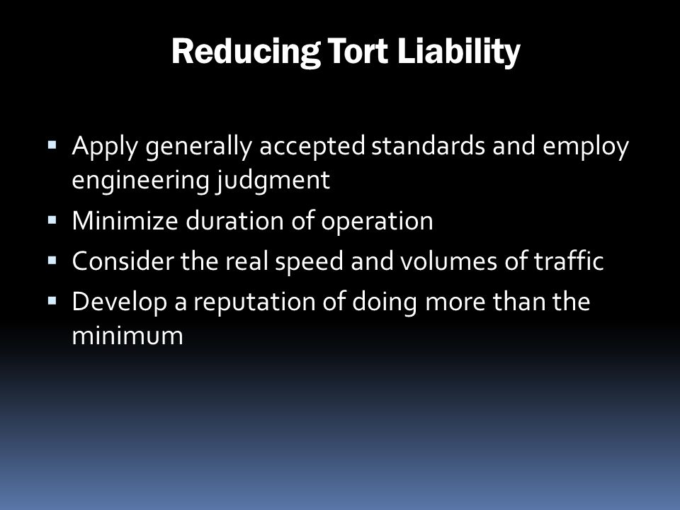 Reducing Tort Liability