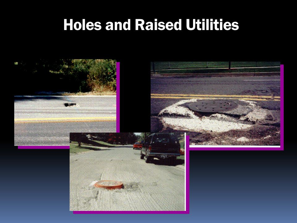 Holes and Raised Utilities