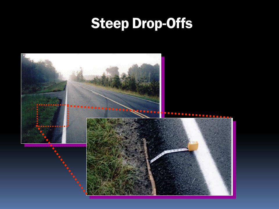 Steep Drop-Offs Vertical Drop – 1 ¾ inch drop is declared a hazard.