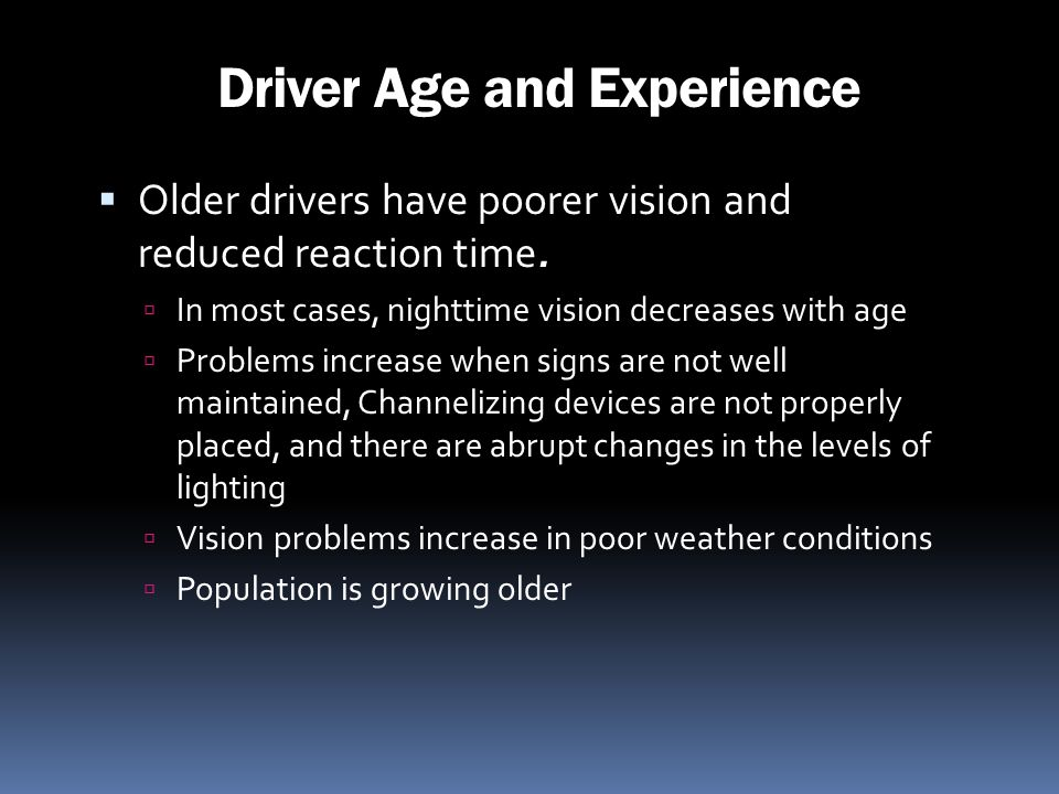 Driver Age and Experience