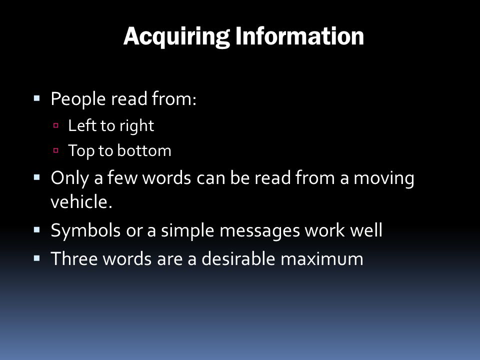 Acquiring Information