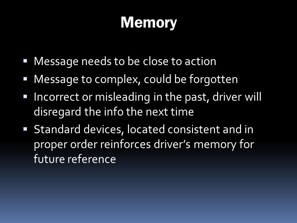 Memory Message needs to be close to action