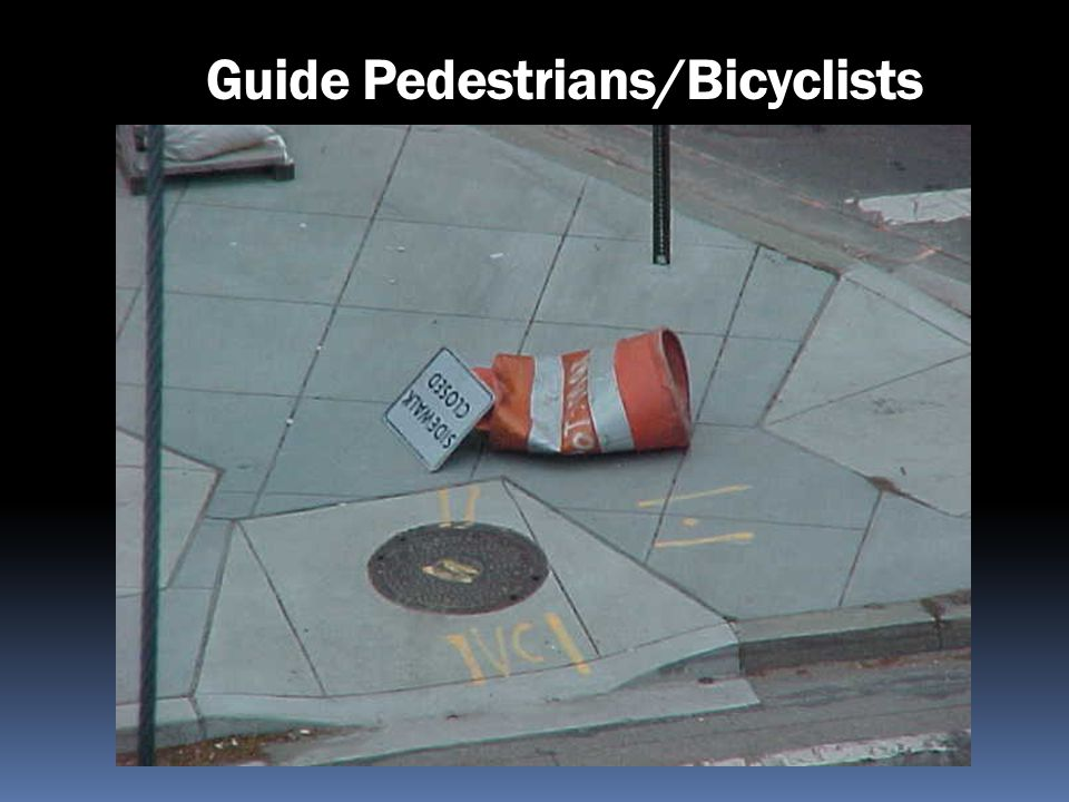 Guide Pedestrians/Bicyclists