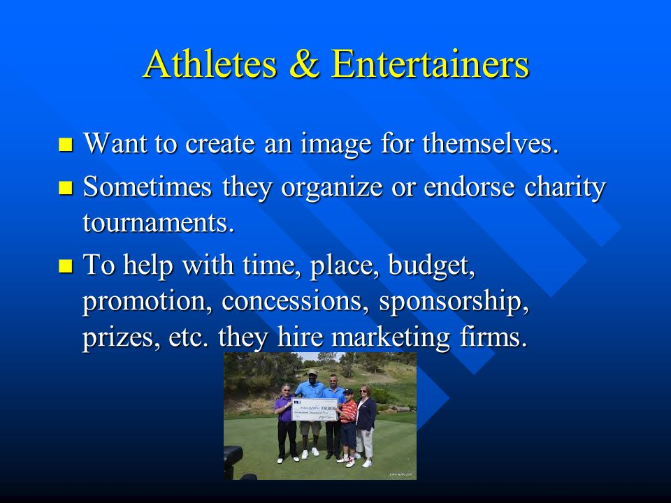 Athletes & Entertainers