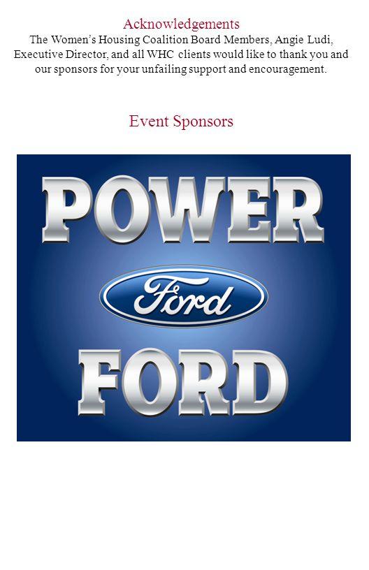 Event Sponsors Acknowledgements