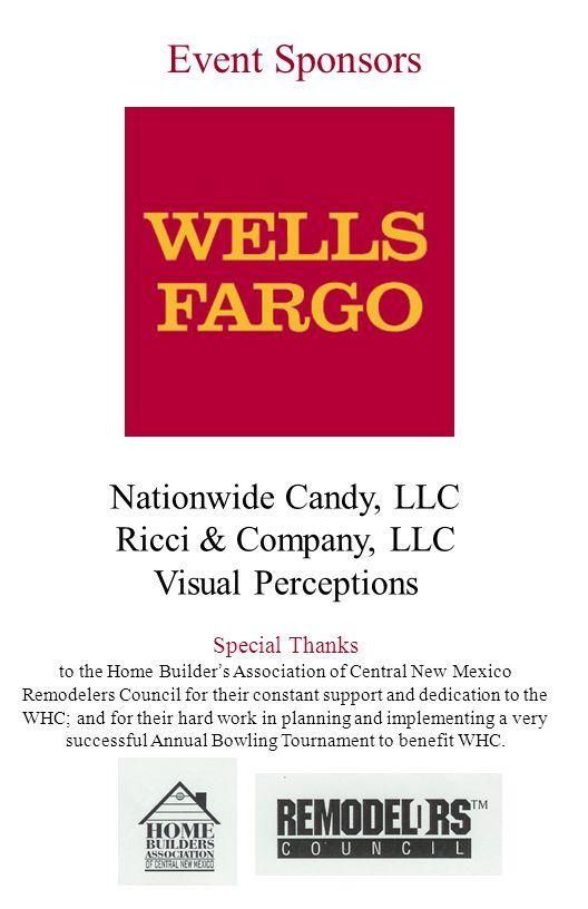 Event Sponsors Nationwide Candy, LLC Ricci & Company, LLC