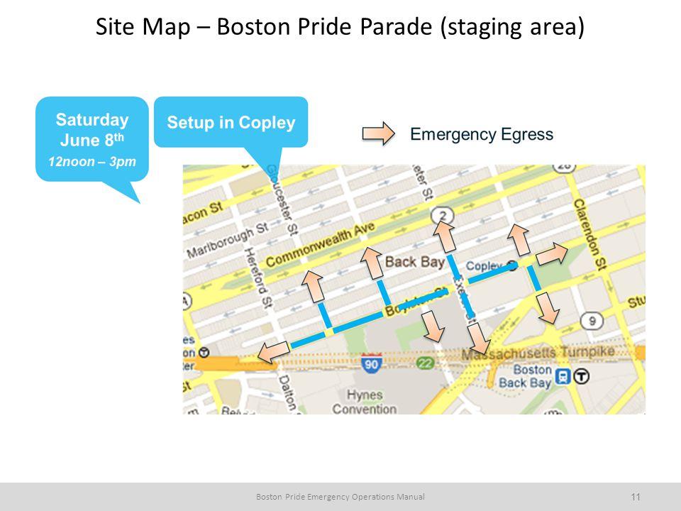 Site Map – Boston Pride Parade (staging area)