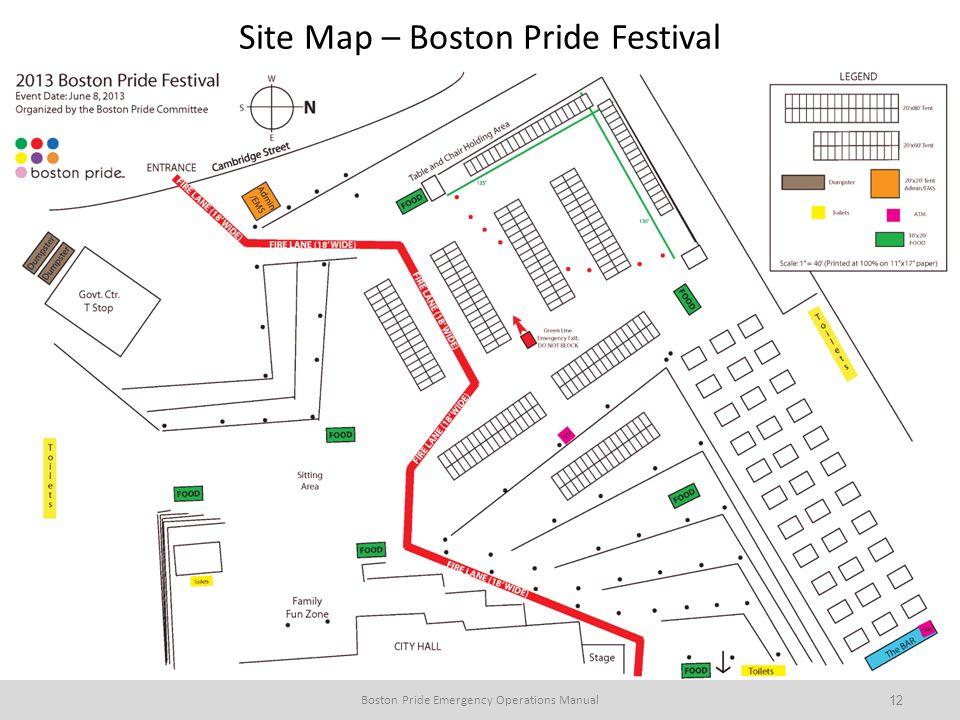 Site Map – Boston Pride Festival