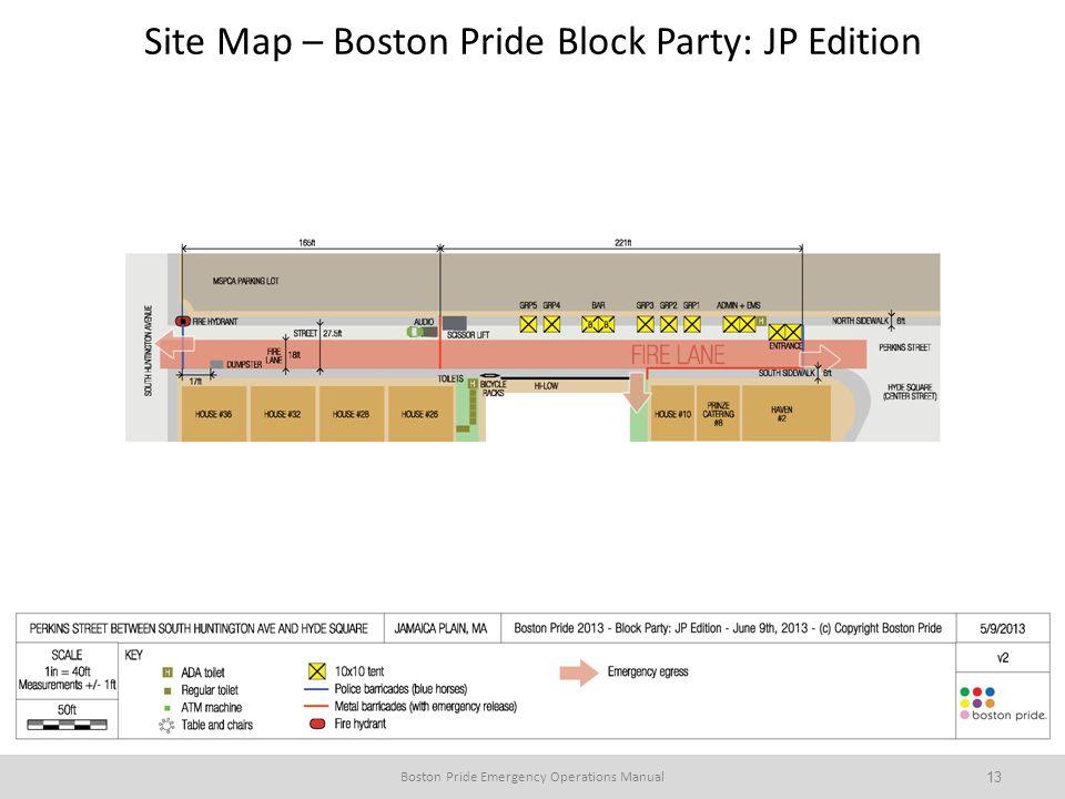 Site Map – Boston Pride Block Party: JP Edition