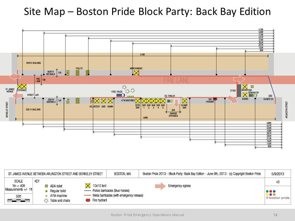 Site Map – Boston Pride Block Party: Back Bay Edition