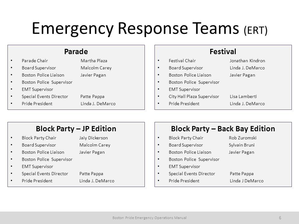 Emergency Response Teams (ERT)