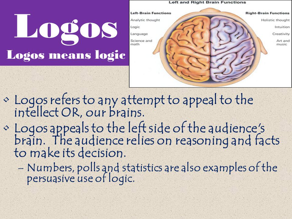 Logos Logos means logic