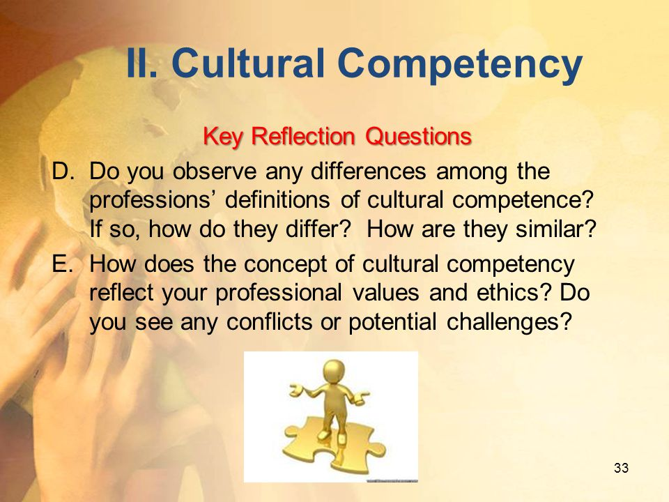 II. Cultural Competency