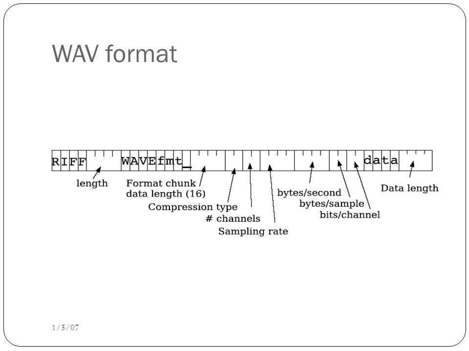 WAV format 1/5/07