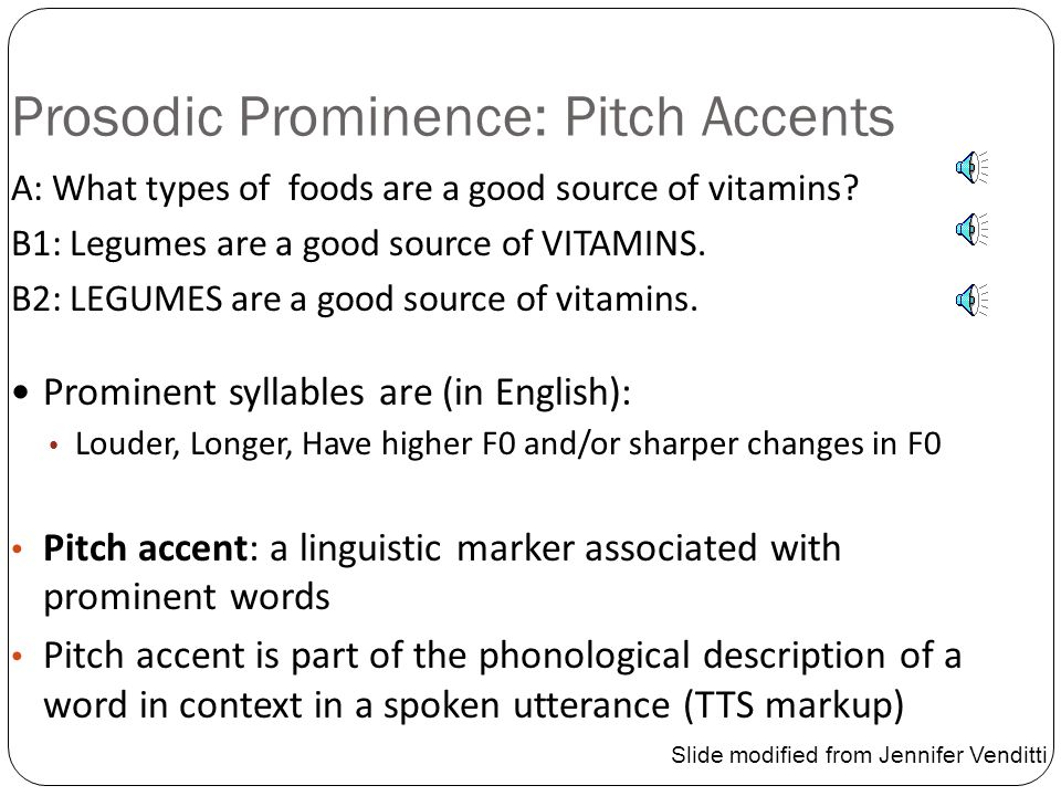 Prosodic Prominence: Pitch Accents