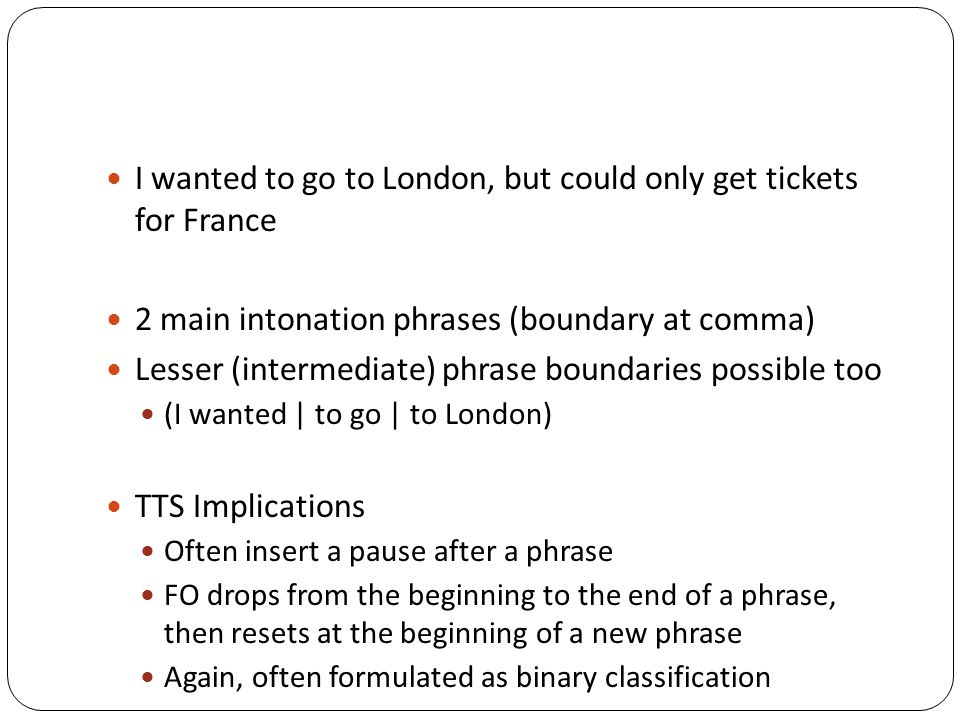 I wanted to go to London, but could only get tickets for France