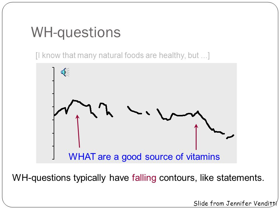 WH-questions WHAT are a good source of vitamins