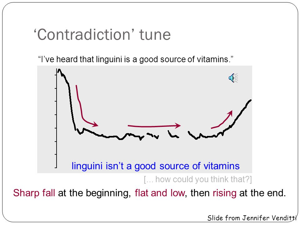 'Contradiction' tune linguini isn't a good source of vitamins