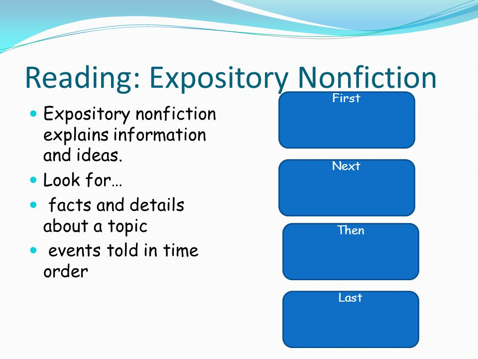 Reading: Expository Nonfiction