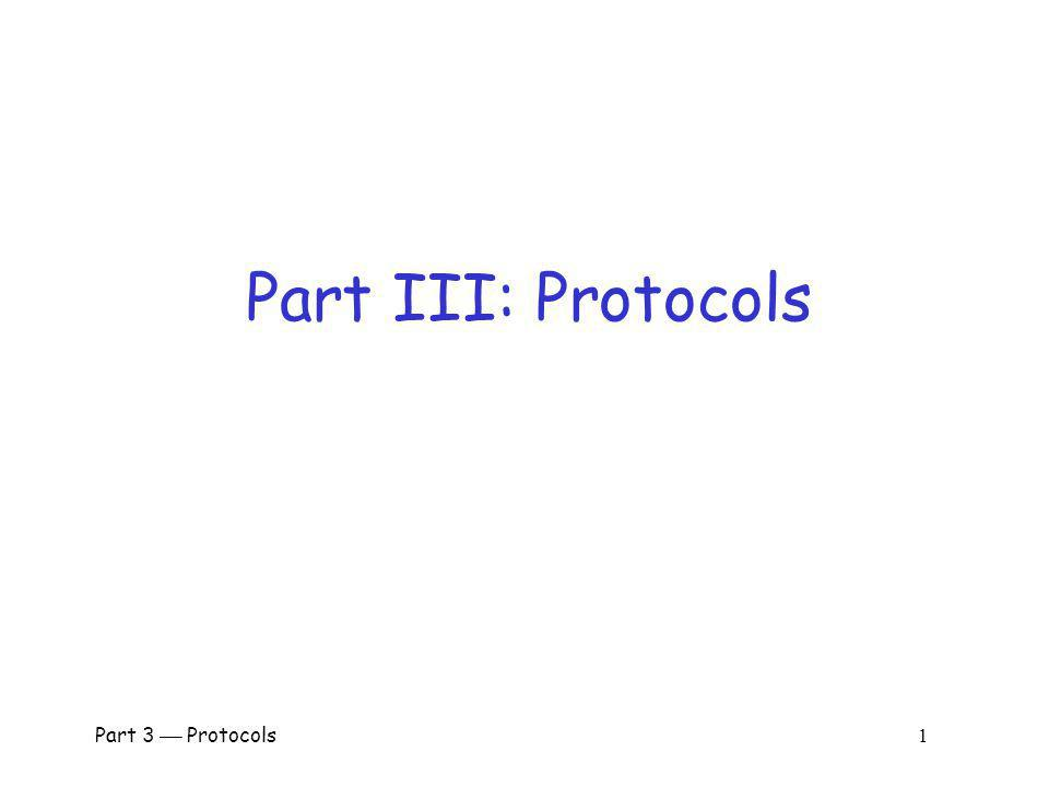 Part III: Protocols Part 3  Protocols 1.