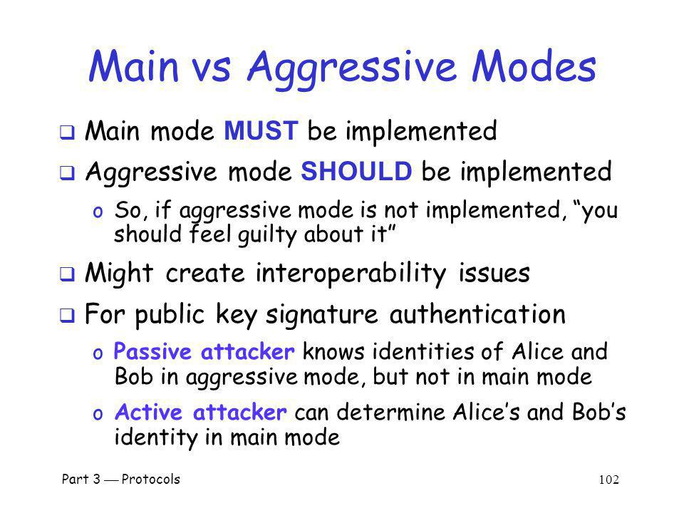 Main vs Aggressive Modes