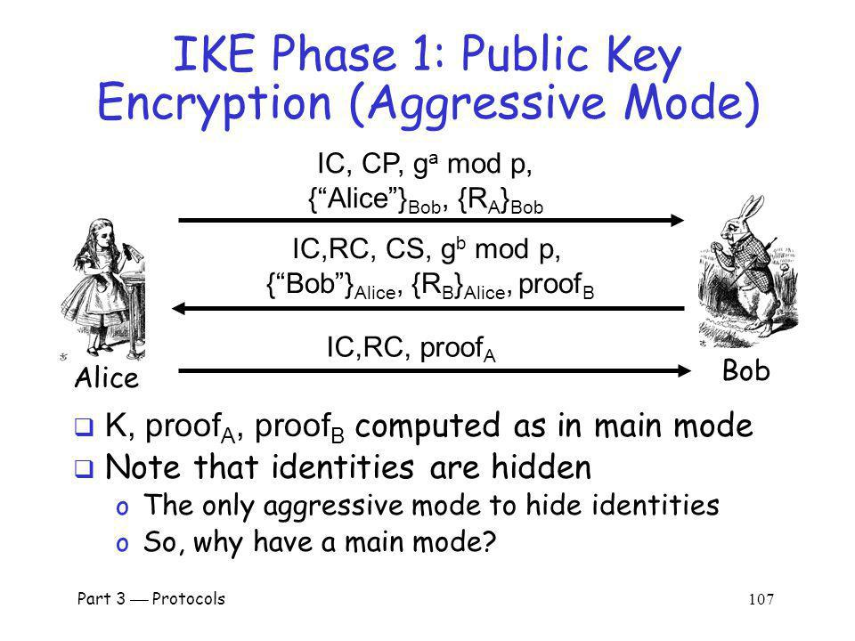 IKE Phase 1: Public Key Encryption (Aggressive Mode)