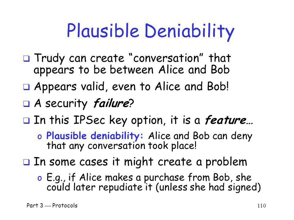 Plausible Deniability