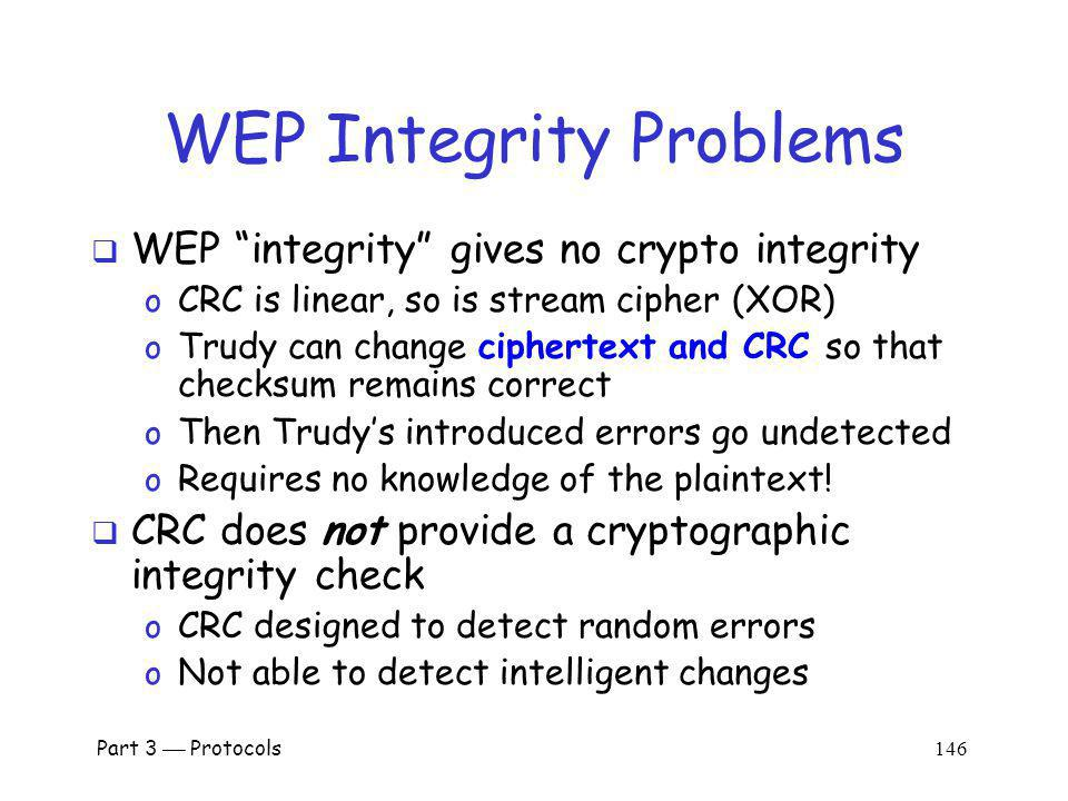 WEP Integrity Problems