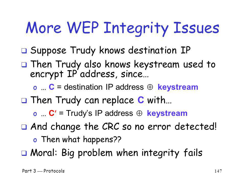 More WEP Integrity Issues