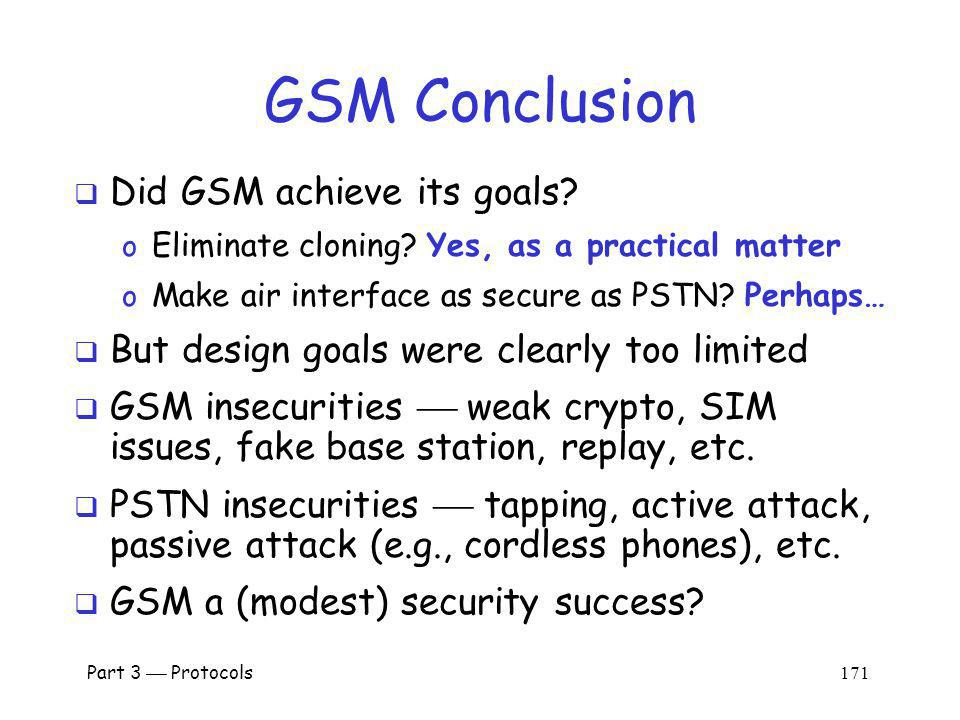 GSM Conclusion Did GSM achieve its goals