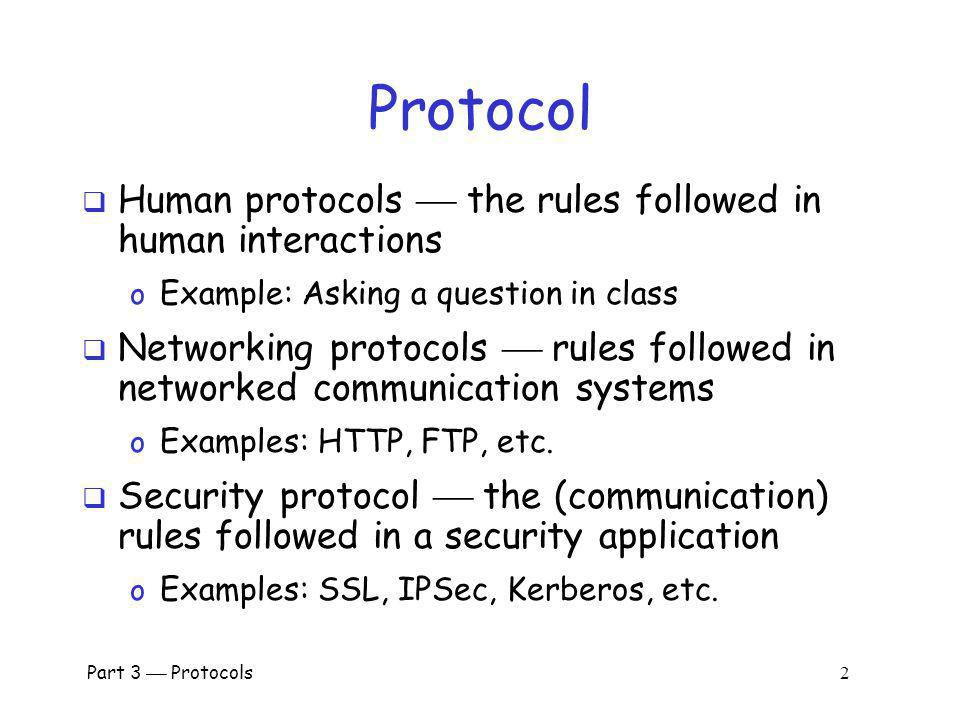 Protocol Human protocols  the rules followed in human interactions