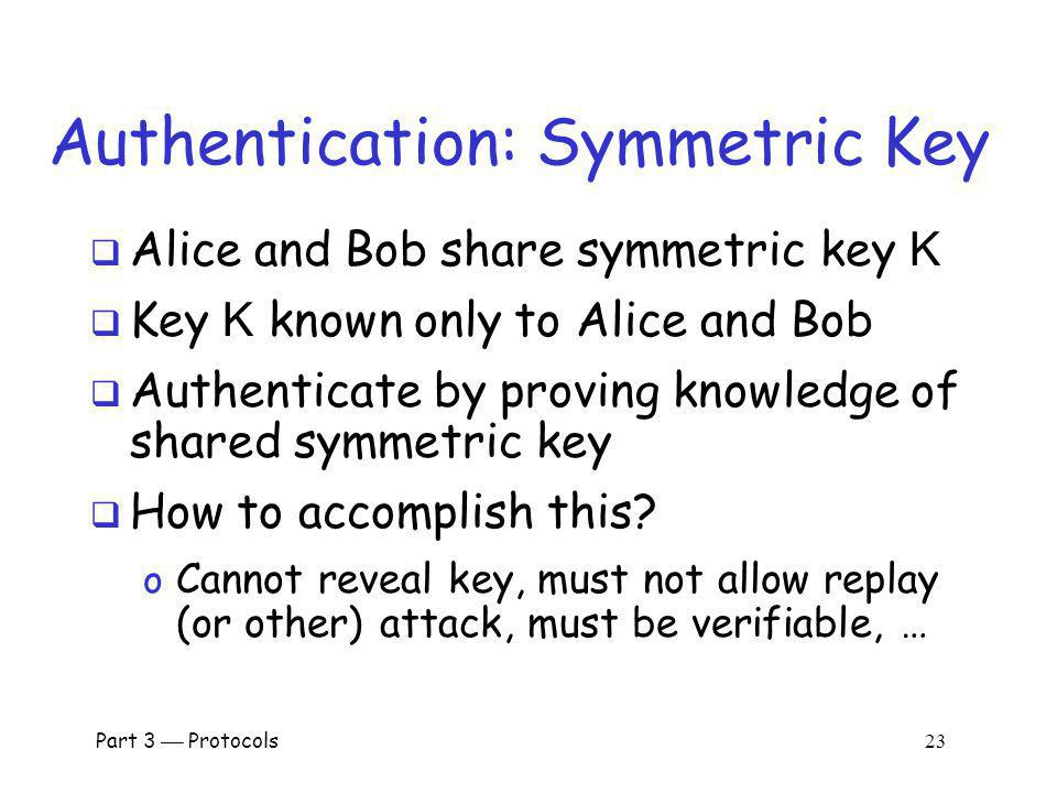 Authentication: Symmetric Key