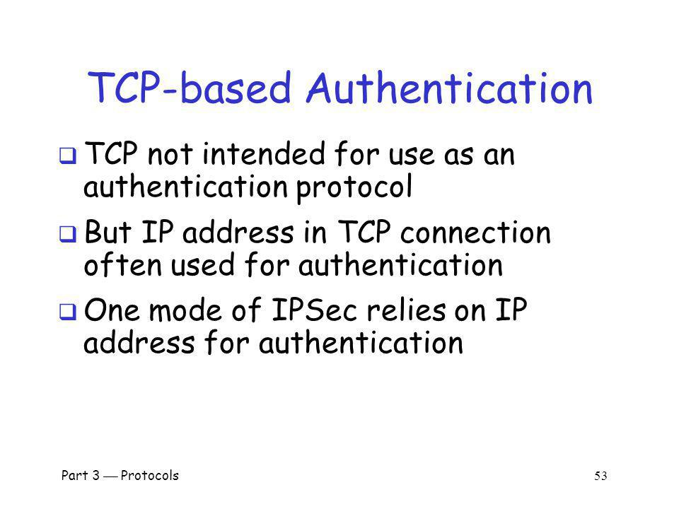 TCP-based Authentication