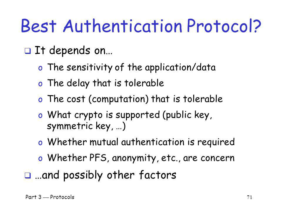Best Authentication Protocol