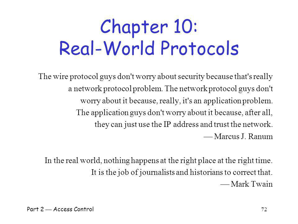 Chapter 10: Real-World Protocols