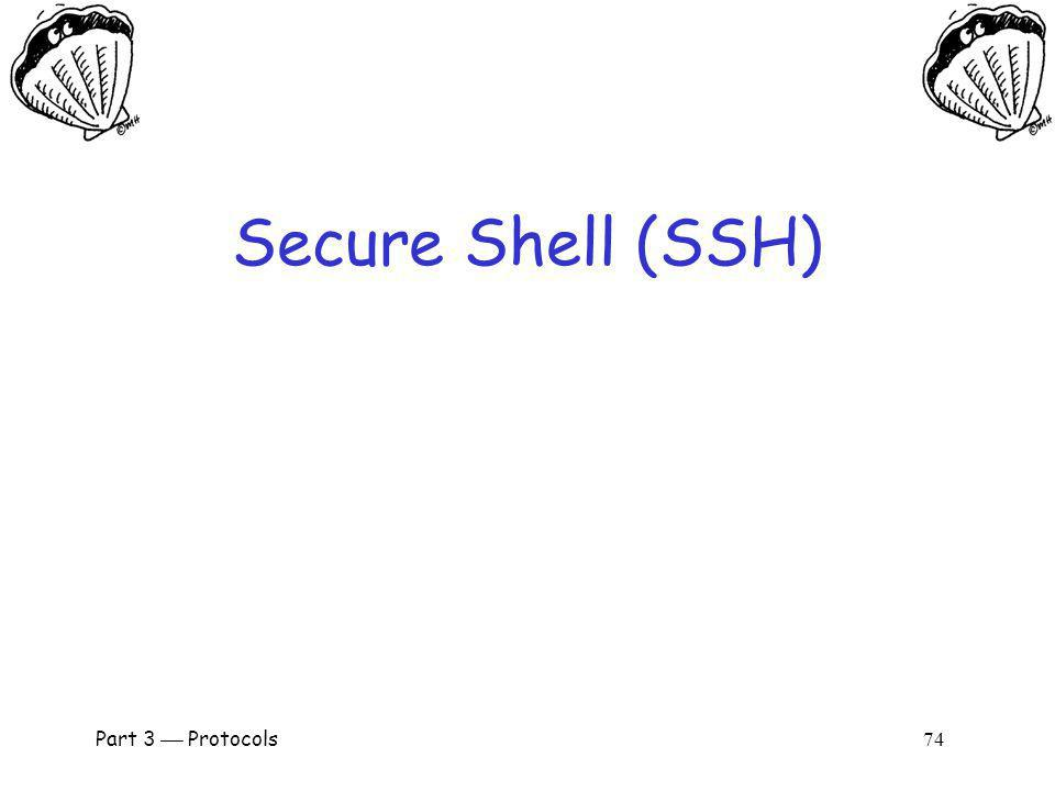 Secure Shell (SSH) Part 3  Protocols 74.