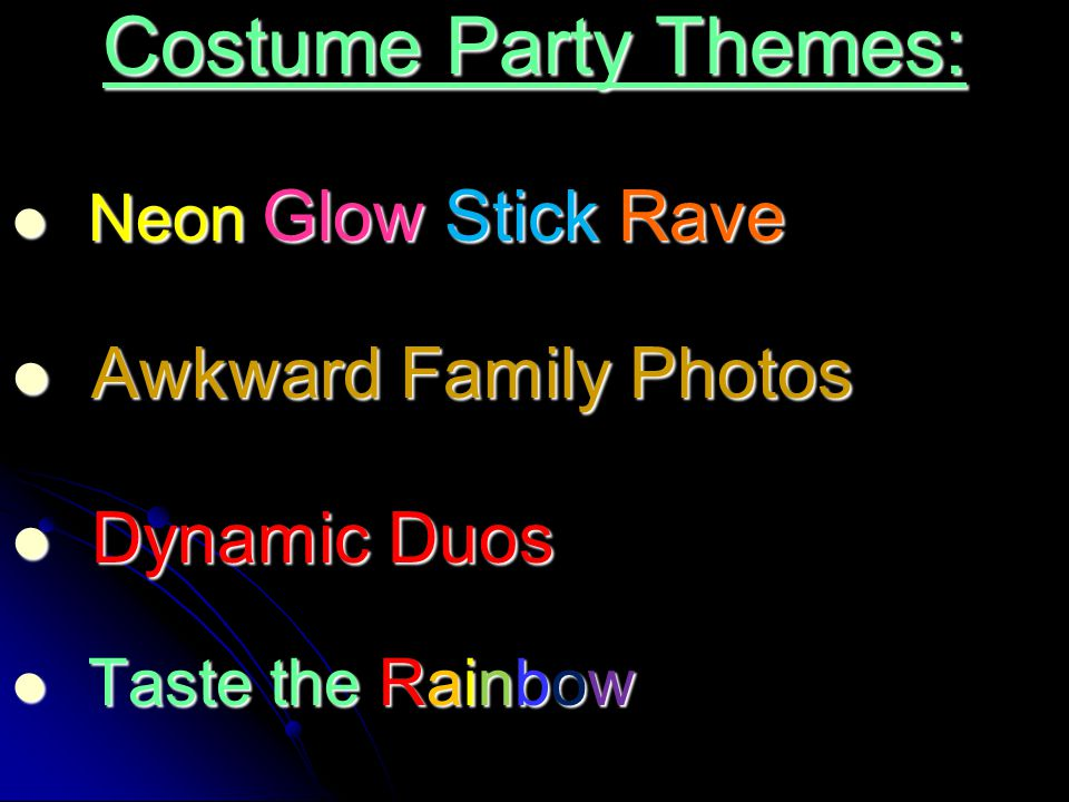 Costume Party Themes: Awkward Family Photos Dynamic Duos
