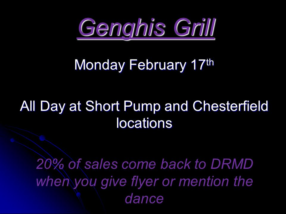 All Day at Short Pump and Chesterfield locations