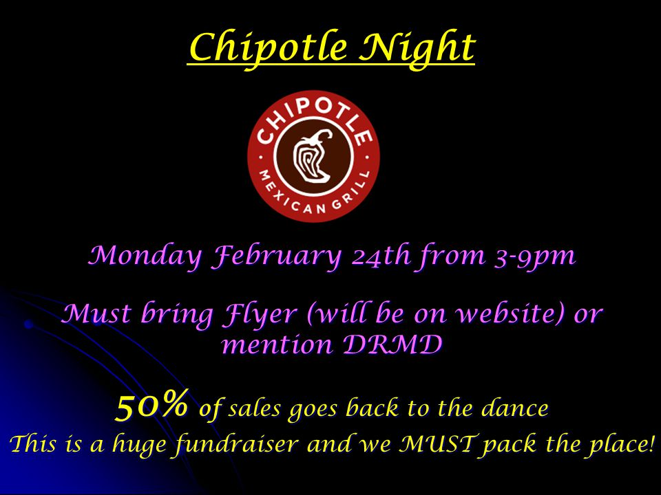 50% of sales goes back to the dance