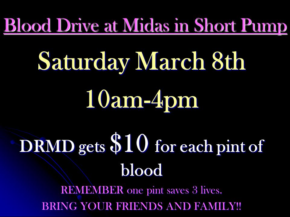Blood Drive at Midas in Short Pump