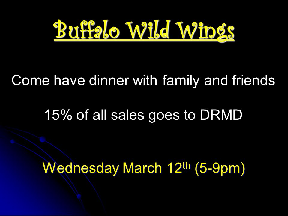 Buffalo Wild Wings Come have dinner with family and friends