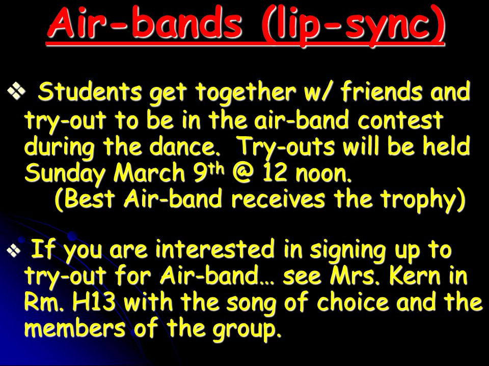 Air-bands (lip-sync)