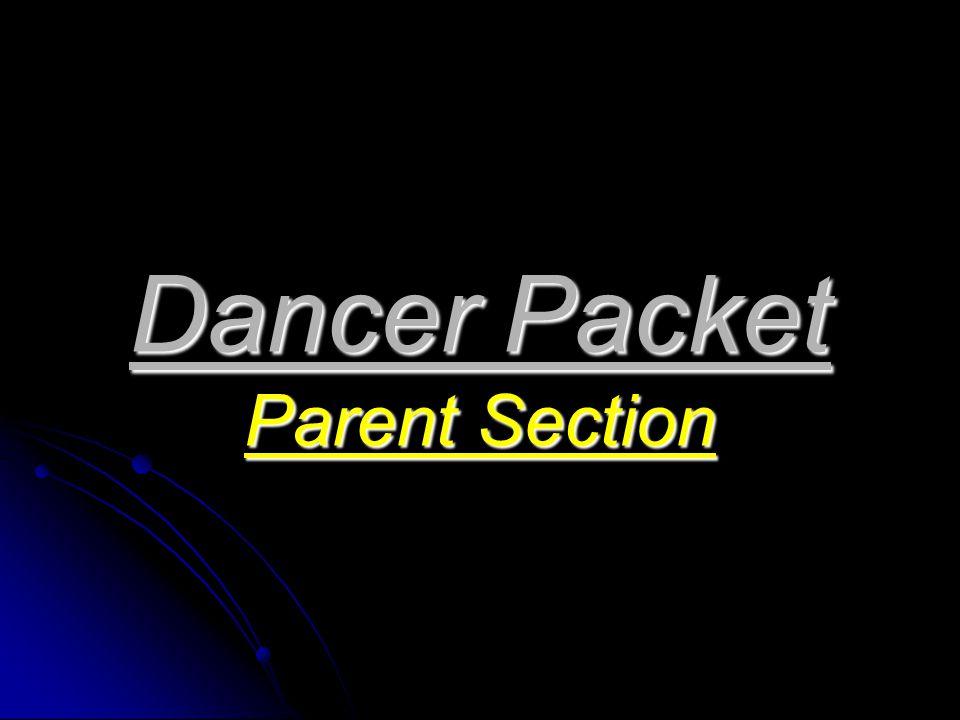 Dancer Packet Parent Section