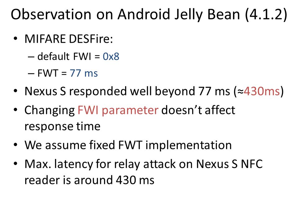 Observation on Android Jelly Bean (4.1.2)