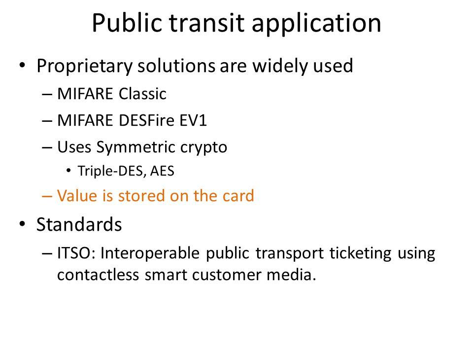 Public transit application