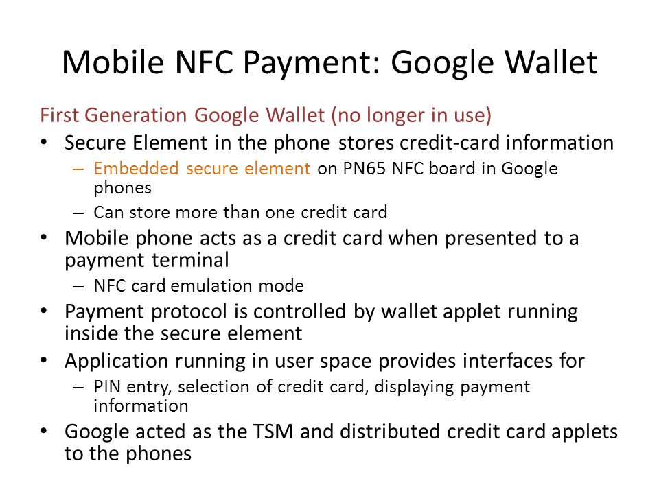 Mobile NFC Payment: Google Wallet